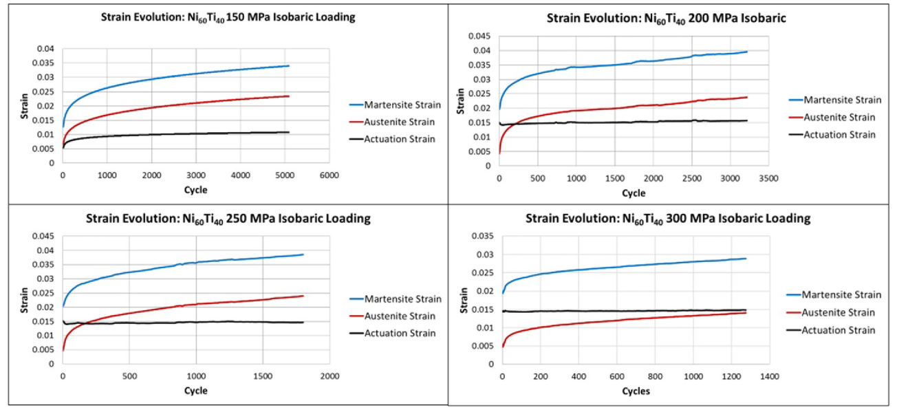 Actuator lifetime predictions for Ni60Ti40 shape memory alloy plate