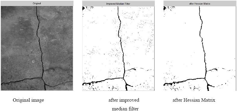 A crack extraction algorithm based on improved median filter