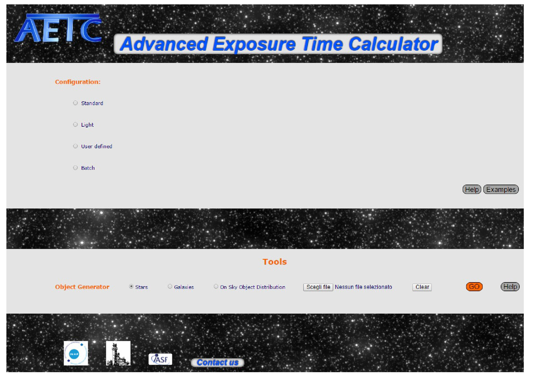 AETC: a powerful web tool to simulate astronomical images