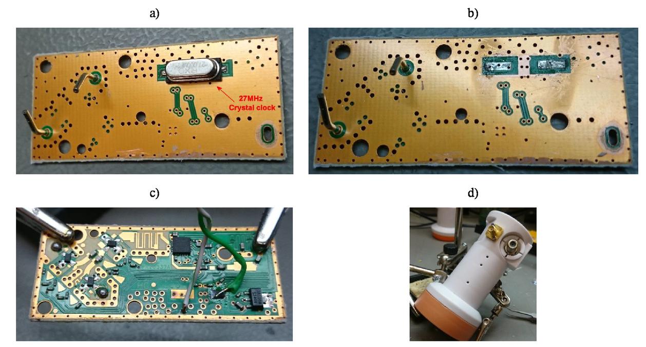 Low-cost Ku band interferometer for educational purposes