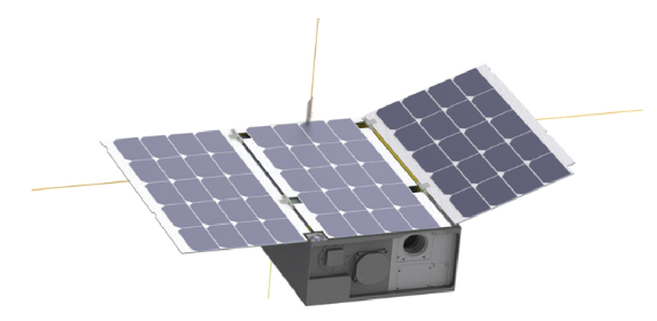 Design and demonstration of a CubeSat-scale spatial
