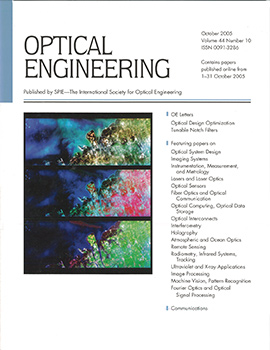 Volume 44 Issue 10 | Optical Engineering